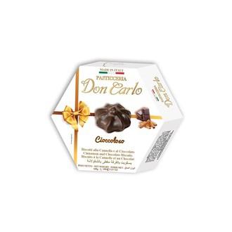 Sladké pečivo - Sušenky se skořicí v čokoládové polevě DON CARLO 100 g