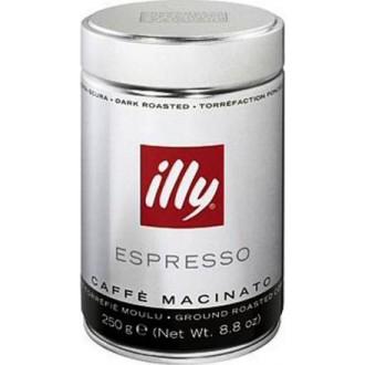 Mletá káva - Illy Espresso Dark mletá káva dóza 250 g