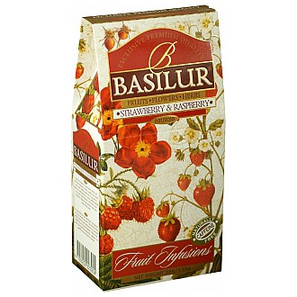 Čaj - Basilur Fruit Strawberry & Raspberry 100 g