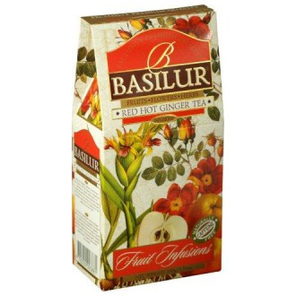 Čaj - BASILUR Fruit Red Hot Ginger papír 100 g