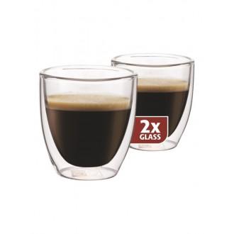 Příslušenství - Maxxo DG808 espresso dvoustěnné termo sklenice 2ks