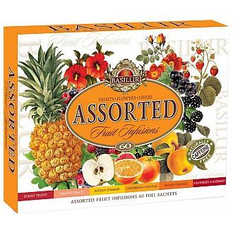 Čaj - BASILUR Fruit Infusions Assorted přebal 60 gastro sáčků