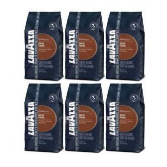 Zrnková káva - Lavazza Caffé Super Crema káva zrnková 6x 1000 g
