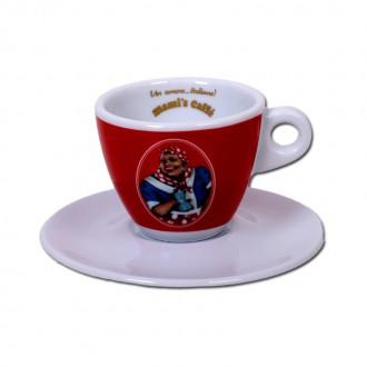 Příslušenství - Mami's Caffé šálek na cappuccino - červený