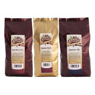 Zrnková káva - Vito Grande degustační balíček káva zrnková 3 x 1 000 g