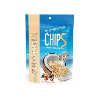Chipsy - KOH Coconut kokosové chipsy vanilka karamel 40g