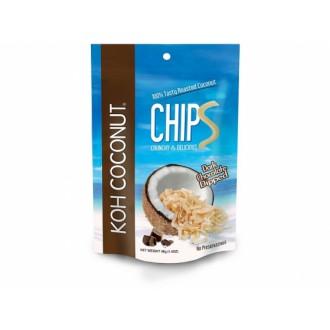Chipsy + Bonbóny - KOH Coconut kokosové chipsy čokoládové 40g