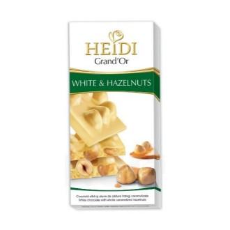 Čokoláda - Čokoláda HEIDI GrandOr White&Hazelnuts 100g