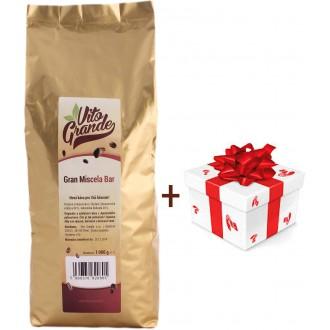 Vánoční balíčky - Vito Grande Gran Miscela Bar káva zrnková 1000 g + dárek