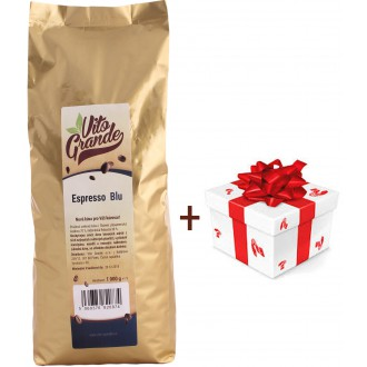 Vánoční balíčky - Vito Grande Blu káva zrnková 1000 g + dárek