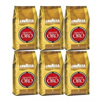 Zrnková káva - Lavazza Qualitá Oro káva zrnková 6 x 1000 g