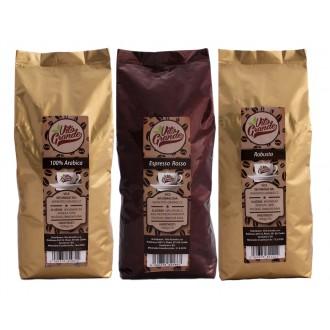 Zrnková káva - Vito Grande 2. degustační balíček káva zrnková 3 x 1 000 g