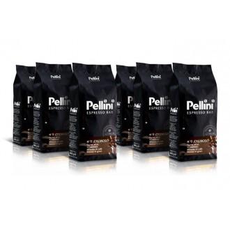 Zrnková káva - Pellini Espresso Bar No.9 Cremoso káva zrnková 6 x 1000 g