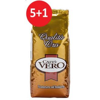 Zrnková káva - Caffé Vero Qualita Oro 5000 g + 1000 g ZDARMA