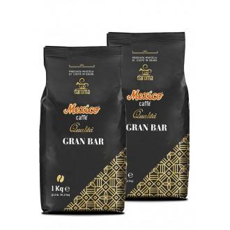 Zrnková káva - Mexico Caffé gran bar káva zrnková 2 x 1000 g