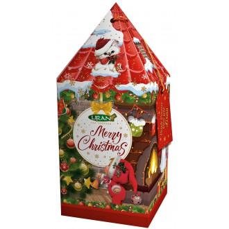 Vánoční čaje - LIRAN černý čaj DOMEČEK - červený, sáčky 20 ks x 2 g