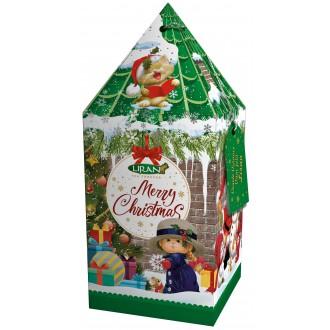 Vánoční čaje - LIRAN zelený čaj DOMEČEK - zelený, sáčky 20 ks x 2 g