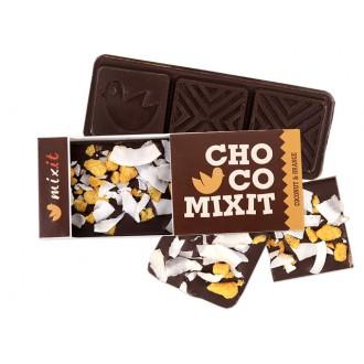 Oříšky + Ovoce - Mini Čokoláda: Hořká s kokosem a lyo pomerančem