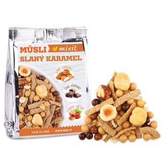 Oříšky + Ovoce - Pečený Mixit - Slaný karamel & lískové oříšky do kapsy 60 g