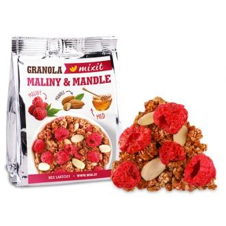 Oříšky + Ovoce - Granola z pece - Maliny a mandle do kapsy 70 g