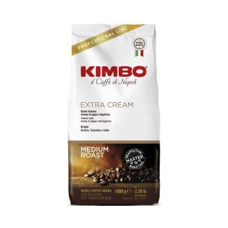 Zrnková káva - Kimbo / DeLongi Extra Cream káva zrnková 1000 g