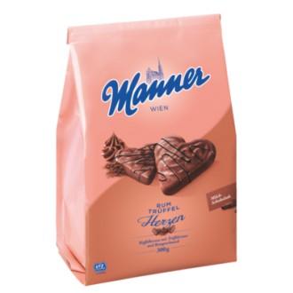Sladkosti Manner - MANNER RUM-TRÜFFLECREME HERZEN 300 g