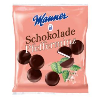 Sladkosti Manner - MANNER PFEFFERMINZ SCHOKOLADE 150 g
