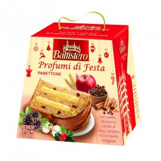 Vánoční Panettone - Panettone kandovaná jablka-skořice 750g