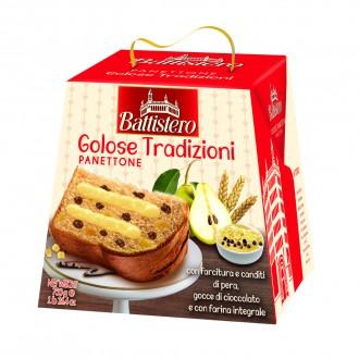 Vánoční Panettone - Panettone kandované hrušky-čokoláda 750g