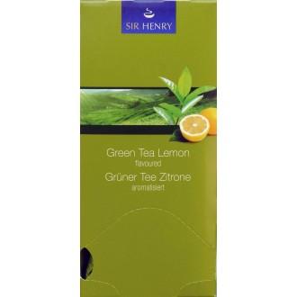 Čaj - SIR HENRY čaj balený zelený citronový 25 sáčků