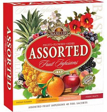 BASILUR Fruit Infusions Assorted přebal 40 sáčků