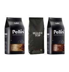 Pellini degustační balíček káva zrnková 3 x 1000 g