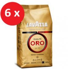 Lavazza Qualitá Oro káva zrnková 6 x 1000 g
