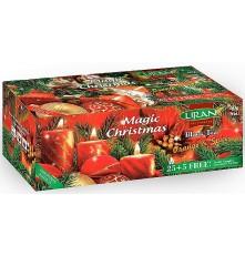 LIRAN černý čaj MAGIC CHRISTMAS sáčky 25 + 5 x 2 g
