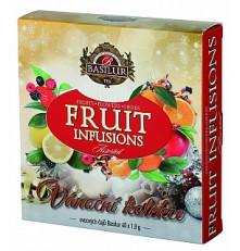 BASILUR Fruit Infusions Assorted Vánoční přebal 40 gastro sáčků x 1,8 g